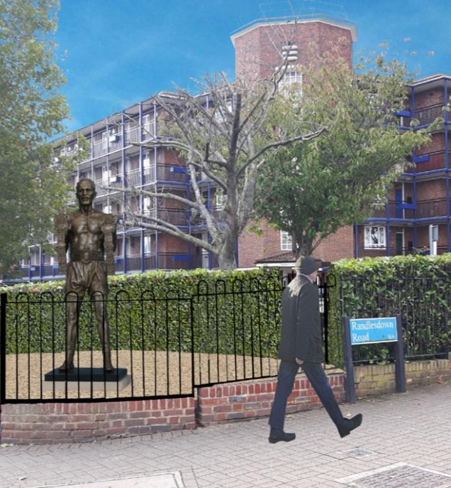 Henry Cooper statue mockup 0318