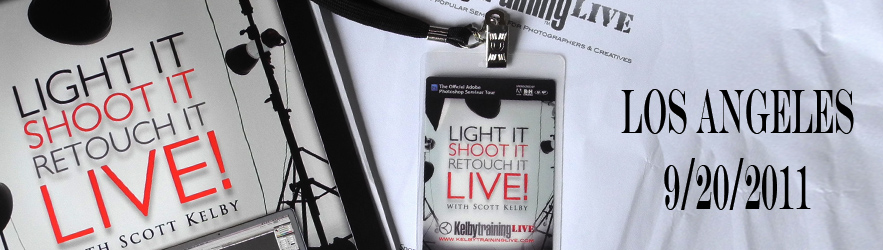 Light It, Shoot It, Retouch It. Live in Los Angeles