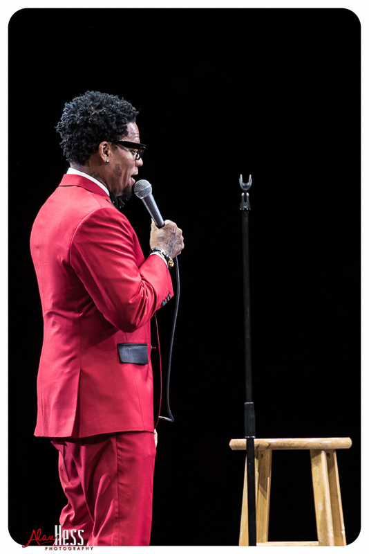 D.L. Hugely performs during the Comedy Get Down Tour at the Valley View Casino Center on 1/30/2016 in San Diego, CA
