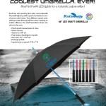 lighted shaft umbrella w flashlight