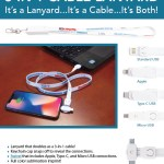 3 in 1 cable lanyard