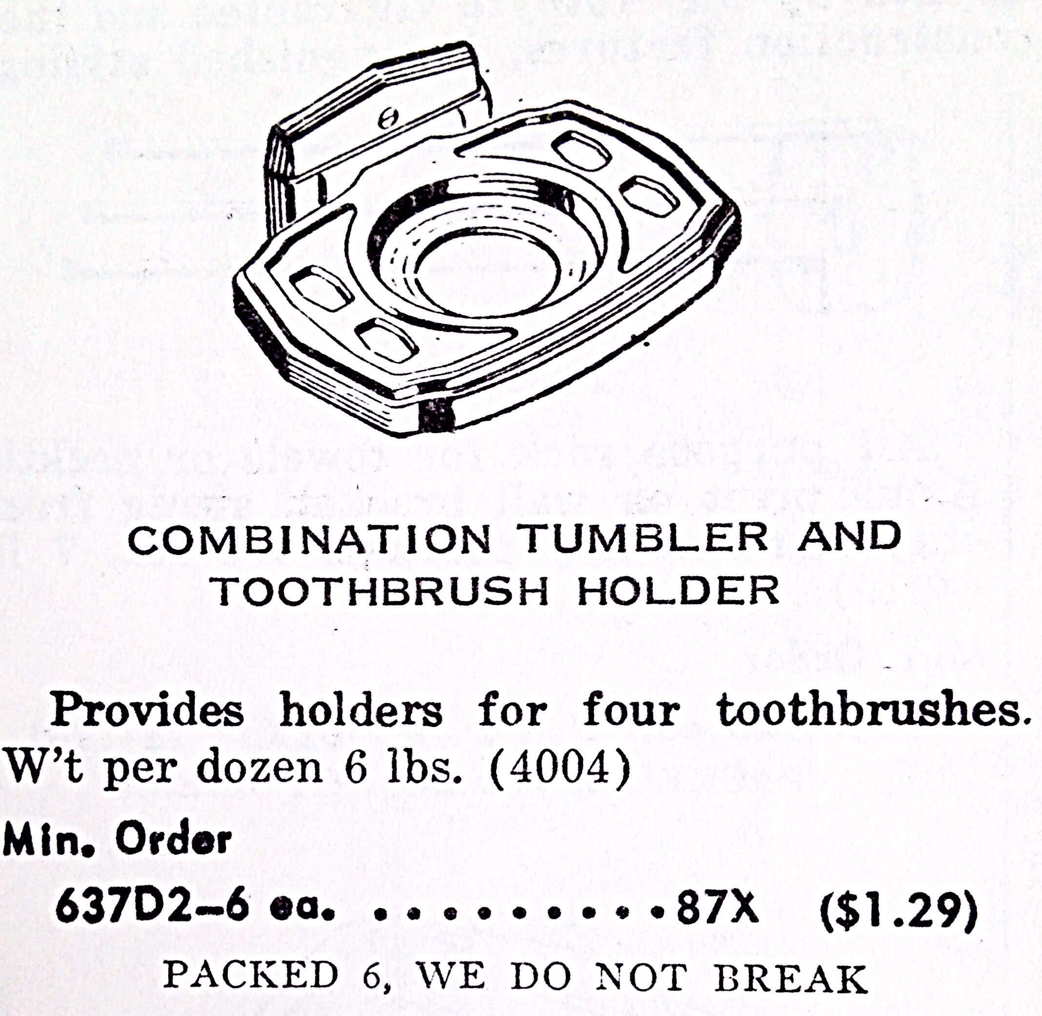 Combination Tumbler And Toothbrush Holder « Hardware