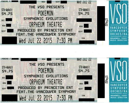 Pokemon symphony vancouver tickets