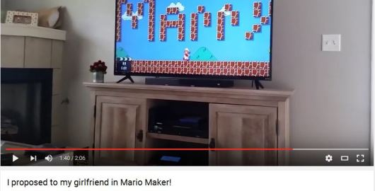 Mario Maker Marriage Proposal