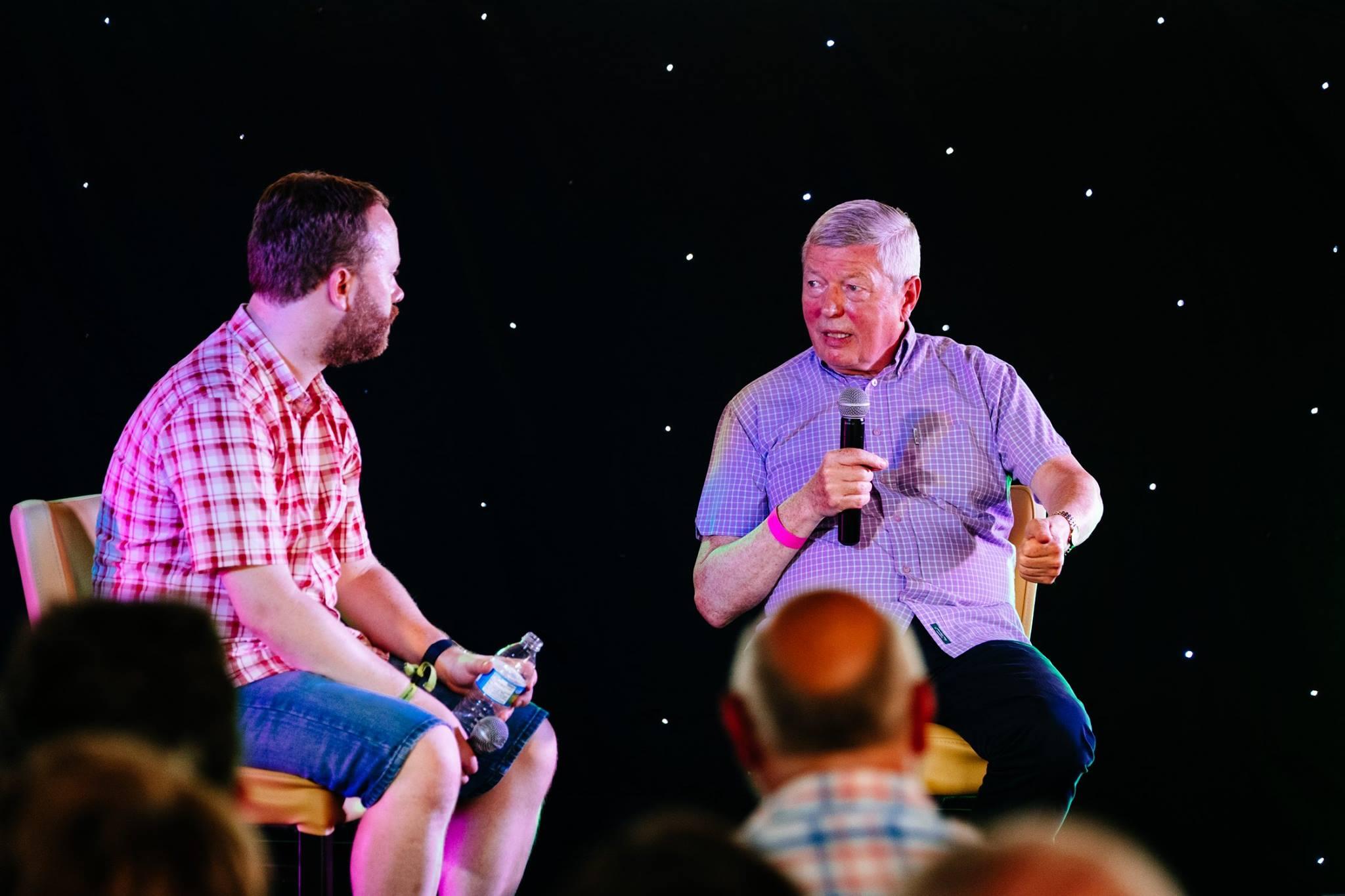 Alan and James at Beverley Folk Festival