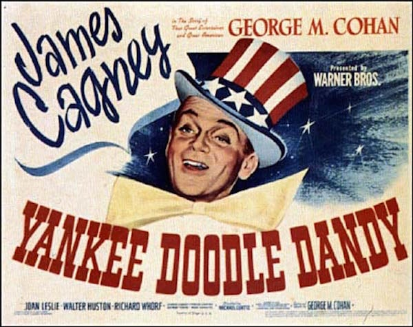 yankee doodle dandy movie poster featuring James Cagney
