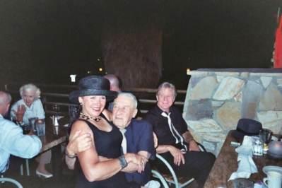 Ann Savage, Mickey Spillane, and  Art Lyons