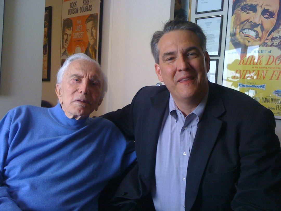 photo of Kirk Douglas and Alan K. Rode
