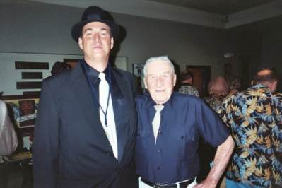 photo of Mickey Spillane and Alan K. Rode