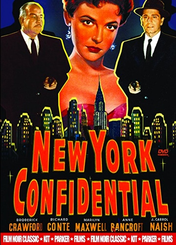 DVD cover art for film noir movie New York Confidential