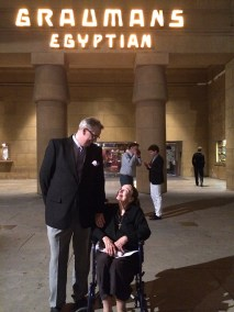 Patricia Morison with Alan K. Rode at Grauman's Egyptian for Screening of The Fallen Sparrow