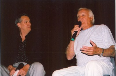 Robert Loggia On Stage with Alan K. Rode