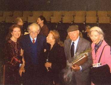 Samantha Eggar, Norman Corwin, Peggy Webber, Norman Lloyd, and Marsha Hunt