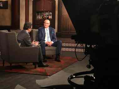 Ben Mankiewicz with Co-Host Alan K. Rode in Studio for TCM Spotlight on Michael Curtiz
