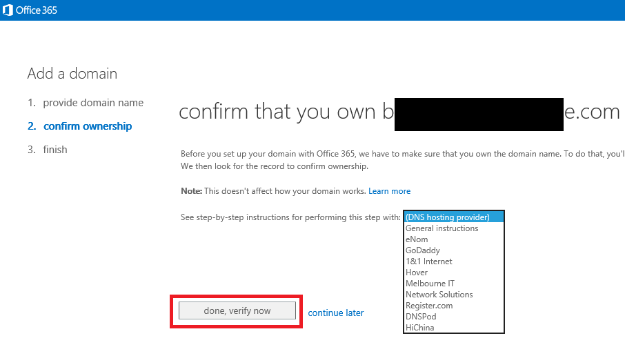 confirming-the-domain