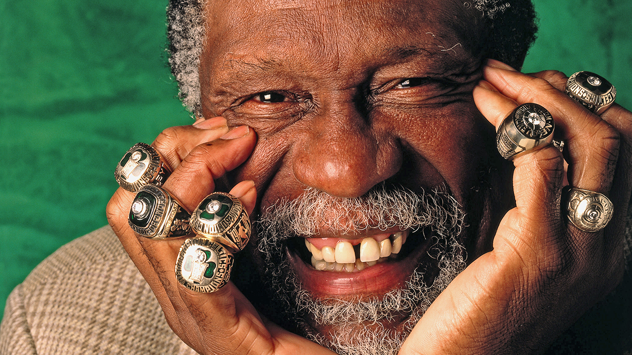 Image result for bill russell with rings images