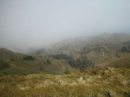 The misty view from beyond the peak