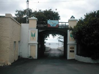 The gate out of Jamestown to the wharf