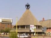 The famous Basotho Hat Building