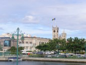 Bridgetown city centre and the parliament building