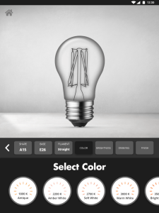 Bulb Configurator - Select Color