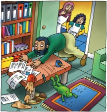 A frog in the study