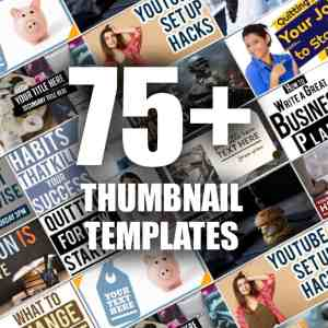 75+ YouTube Thumbnail Templates Pack