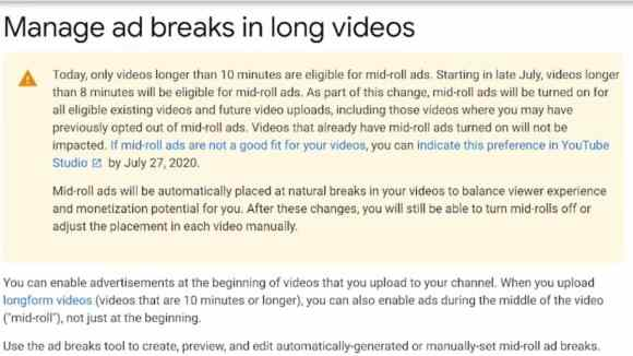 Add Mid Rolls To 8 Minute Videos on YouTube [From July 2020]