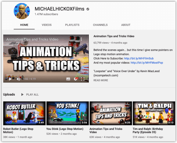 Michael Hickox Channel Page