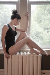 Alexandra Prater on the radiator