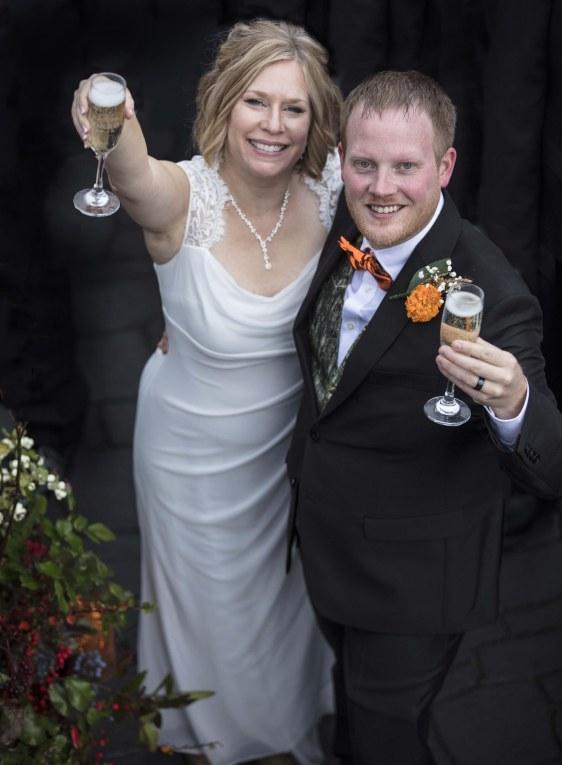 Couple toasts