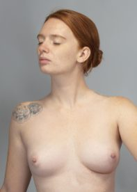 Elegant topless portrait.