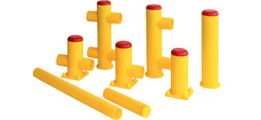Accessories loading area: bollards and profiles
