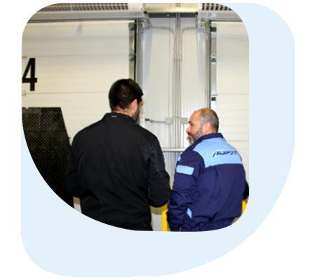 inspección andenes de carga