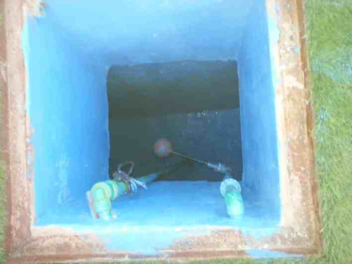 حل تسرب ماء الخزان بعد صب الخرسانة