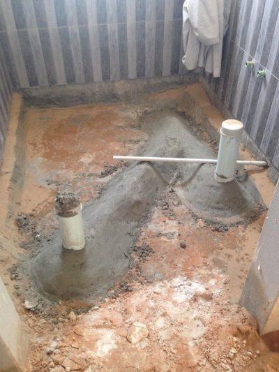 كشف تسربات الحمامات