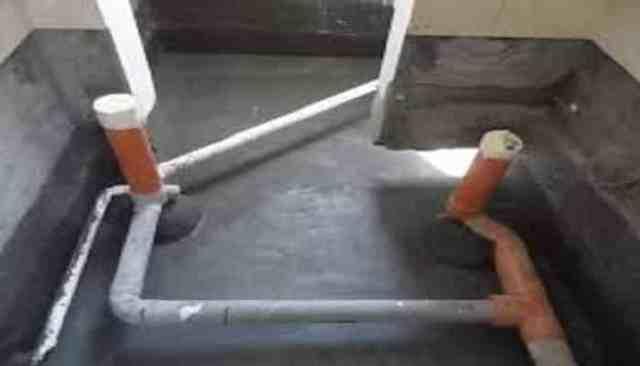 عزل الحمامات بالدهان