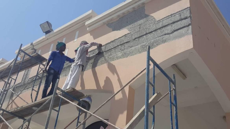 ترميم ومعالجة تشققات الجدران