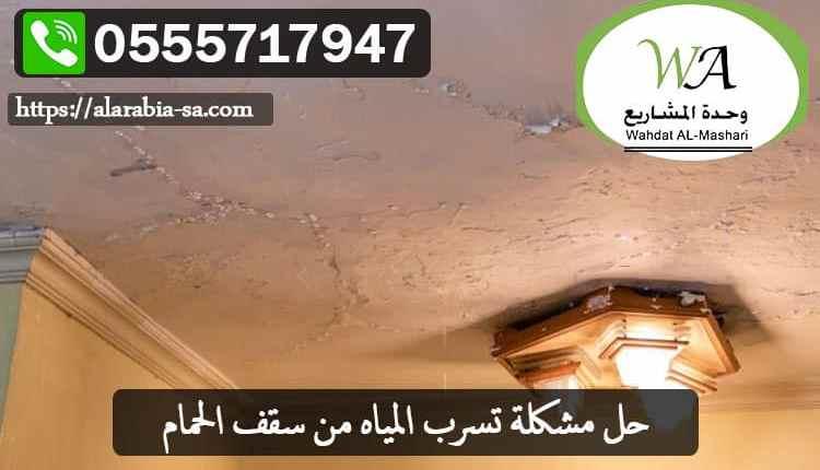حل-مشكلة-تسرب-المياه-من-سقف-الحمام