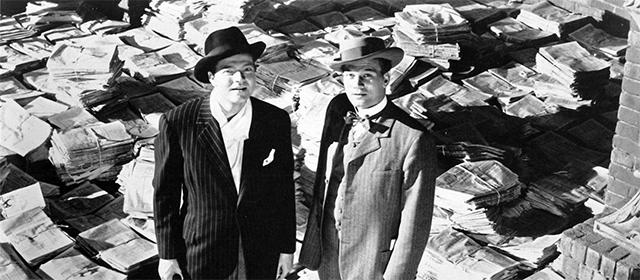 Orson Welles et Joseph Cotten dans Citizen Kane (1941)