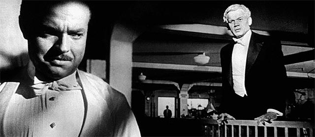 Orson Welles et Joseph Rotten dans Citizen Kane (1941)