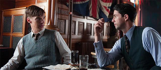 Benedict Cumberbatch et Matthew Goode dans Imitation Game (2015)
