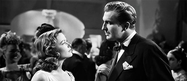 Gene Tierney et Vincent Price dans Laura (1946)