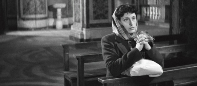 Anna Magnani dans Rome, ville ouverte (1945)