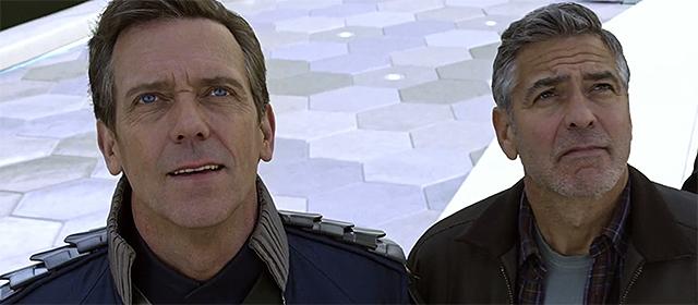 Hugh Laurie et George Clooney dans A la poursuite de demain (2015)