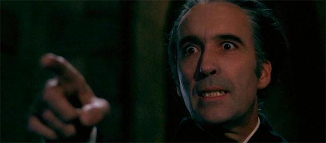 Christopher Lee dans Le cauchemar de Dracula (1958)