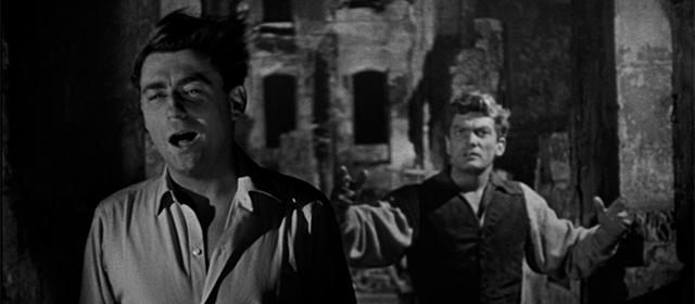 François Périer et Jean Marais dans Orphée (1950)