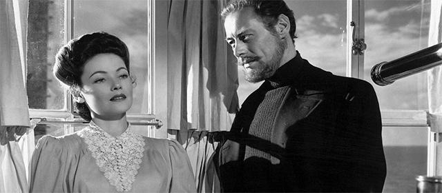 Gene Tierney et Rex Harrison dans L'Aventure de Mme Muir (1947)