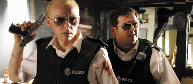 Simon Pegg et Nick Frost dans Hot Fuzz (2007)