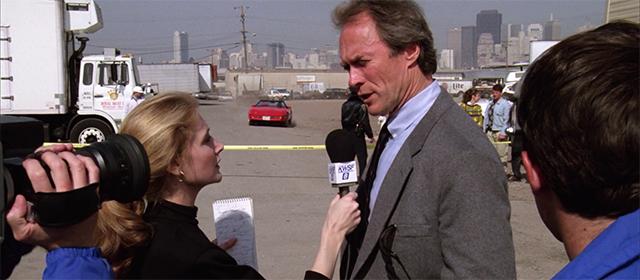 Patricia Clarkson et Clint Eastwood dans La Dernière Cible (1988)
